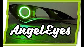 How to Install LED Angel Eyes / Halos flush mounted to a projector ...