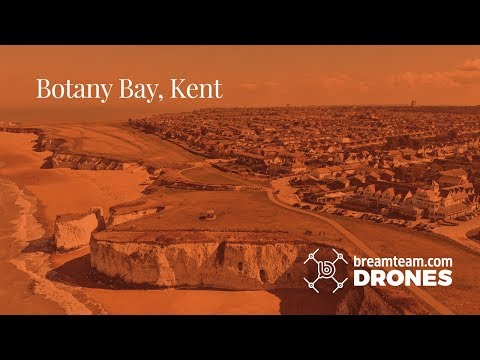 Botany Bay, Broadstairs by Drone