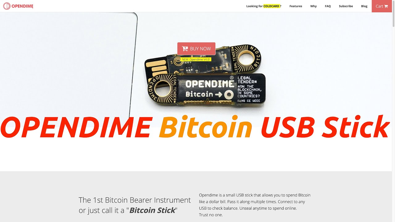 Opendime - A Very Unique Bitcoin USB Stick