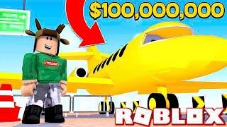 BUYING A $100,000,000 PLANE IN ROBLOX! (Roblox Plane Simulator)