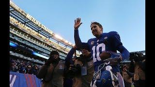 "Giants fans chant ""Eli Manning!"""