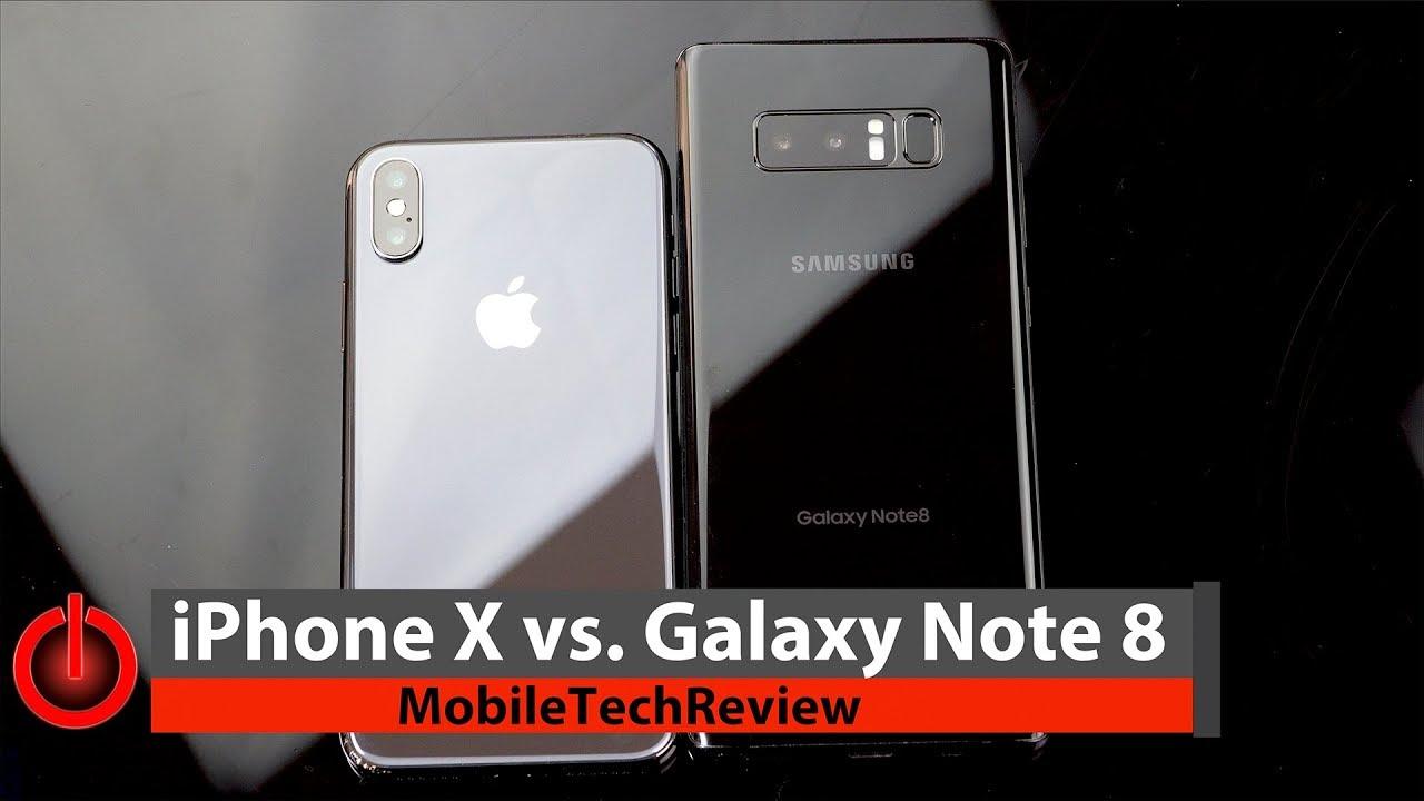 Note  Vs Iphone X Comparison