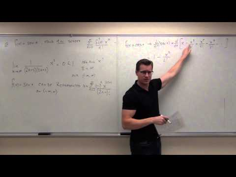 Calculus 2 Lecture 9.8:  Representation Of Functions By Taylor Series And Maclauren Series