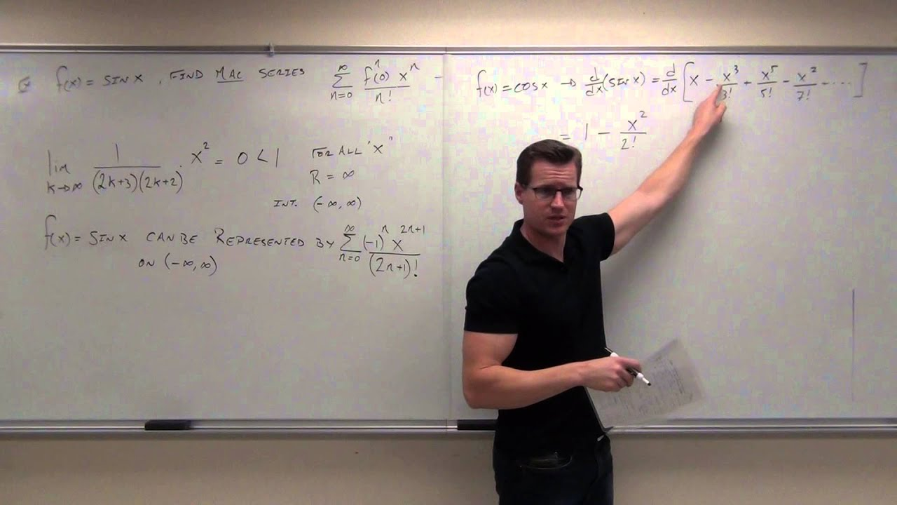 calculus 2 lecture 9 8 representation of functions by taylor series