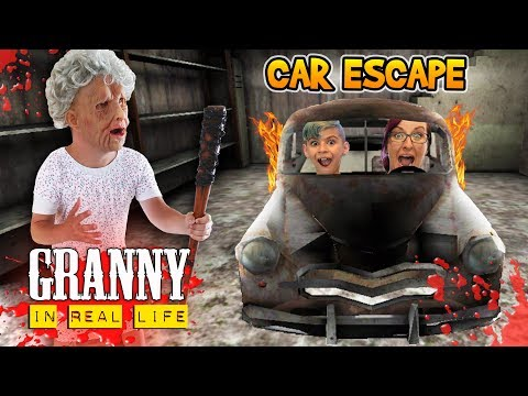 Granny Car Escape In Real Life! Horror Game (FUNhouse Family)