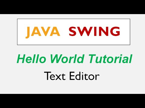 Java Swing Hello World Using Text Editor