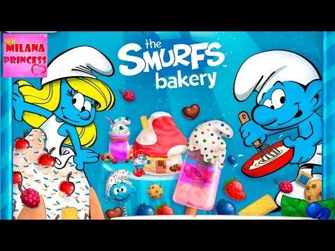 Игра Смурфики, пекарня смурфиков: готовим смурфийские сладости, мороженое и торты