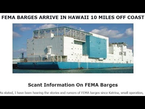June 23rd, 2018 - FEMA BARGES ARRIVE IN HAWAII 10 MILES OFF COAST
