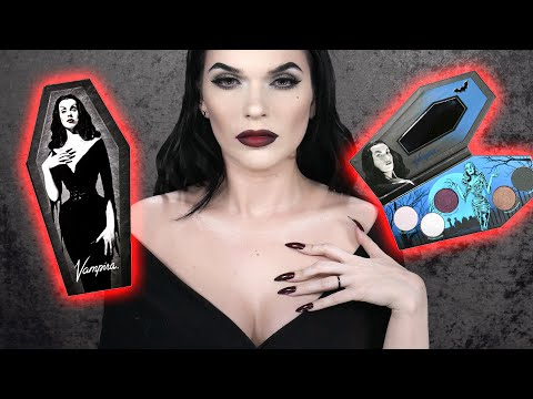 VAMPIRA Makeup Tutorial using the VAMPIRA Eyeshadow Palette ⚰️🕷️🦇⚰️