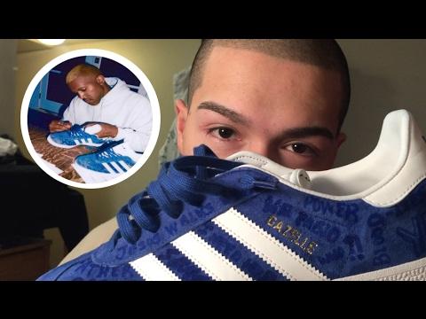 Kanye 's Custom Adidas Gazelle YouTube