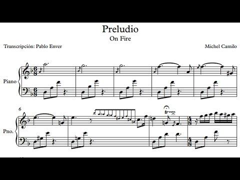 Transcription Michel Camilo - On Fire Piano Prelude