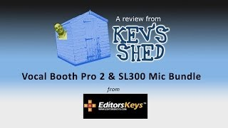 Vocal Booth Pro 2 and SL300 Mic Bundle - Kev