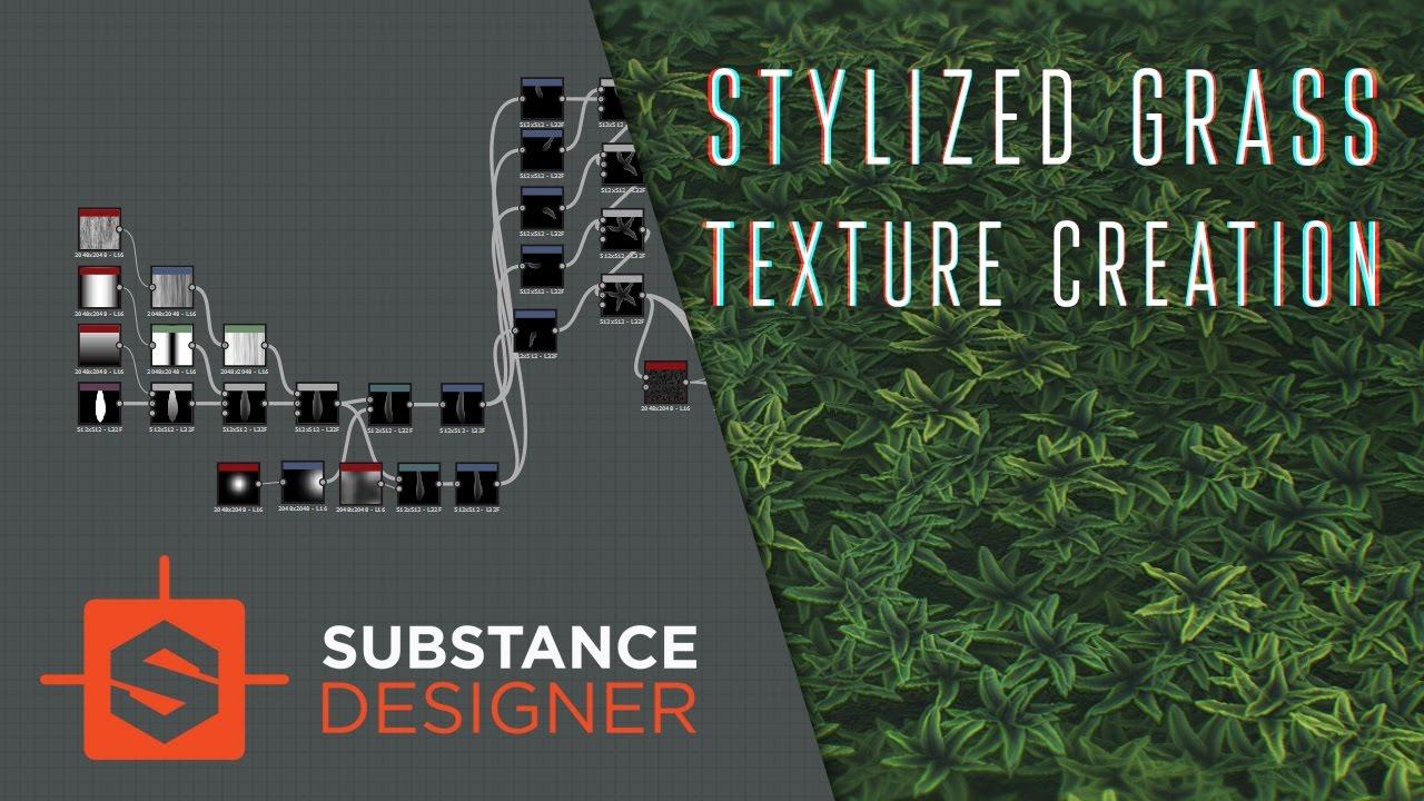 Stylized Grass texture creation | Substance Designer