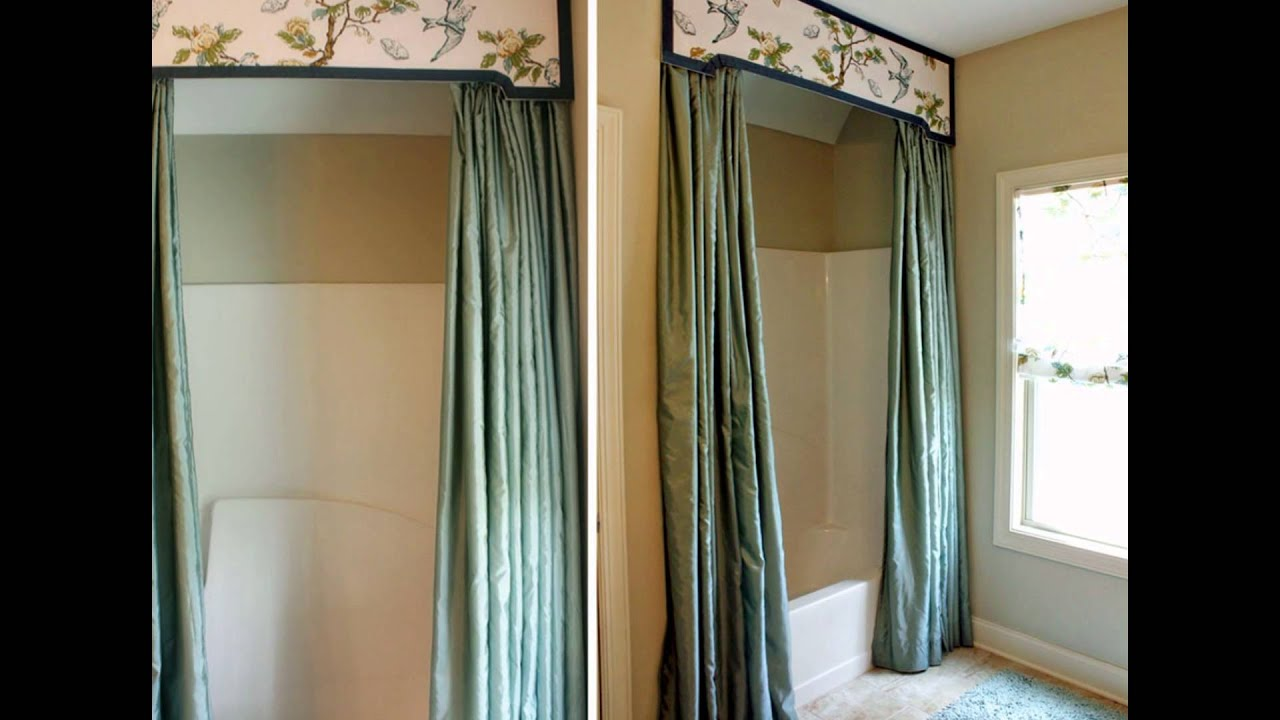bathroom-decoration-ideas-using-shower-curtain-valance- - YouTube