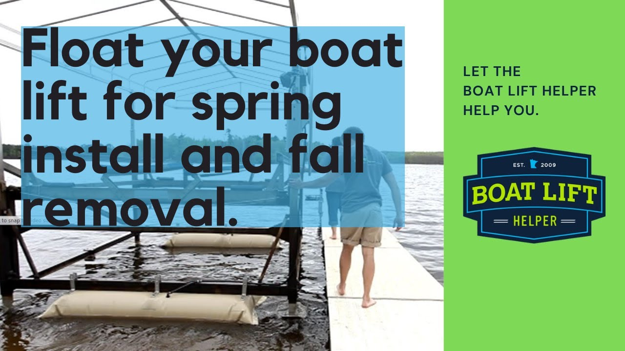 Boat Lift Installation and Removal | BOAT LIFT HELPER -