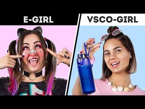 VSCO-Girl и E-Girl – трансформируемся в TikTok девушек
