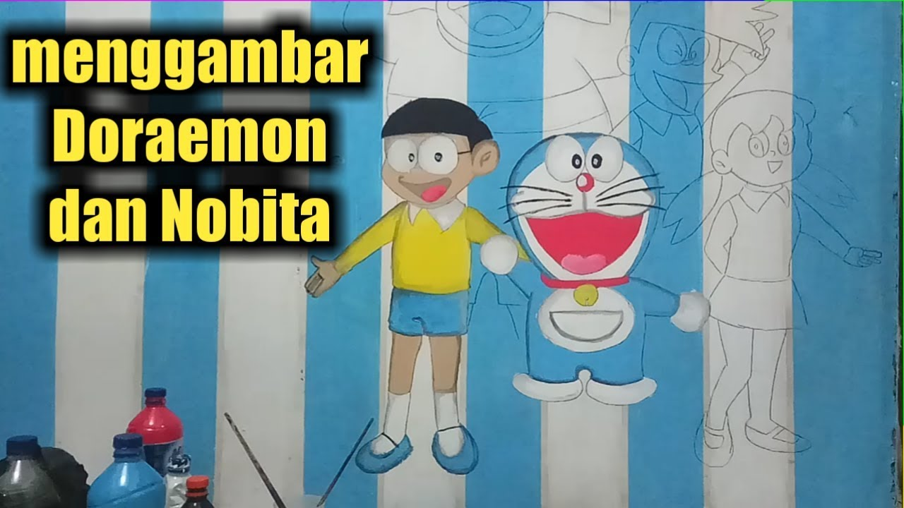 Cara Melukis Doraemon Dan Nobita Di Dinding Kamar Tutorial