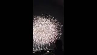 吉田町港まつり花火大会の音楽とスターマイン.