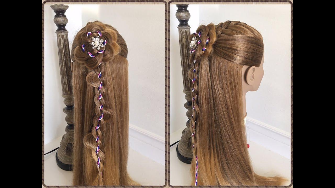 Trenza con flor paso a paso peinados faciles y rapidos - Peinados faciles y rapidos paso a paso ...