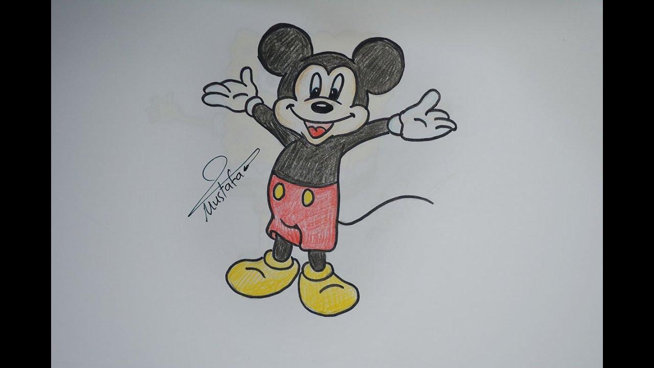 تعلم الرسم الدرس 13 كيفية تعلم رسم ميكي ماوس مع الخطوات