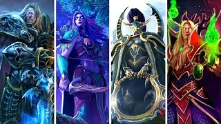 Warcraft III Reforged: All Animated Campaign Screens -  Compilation & Comparison