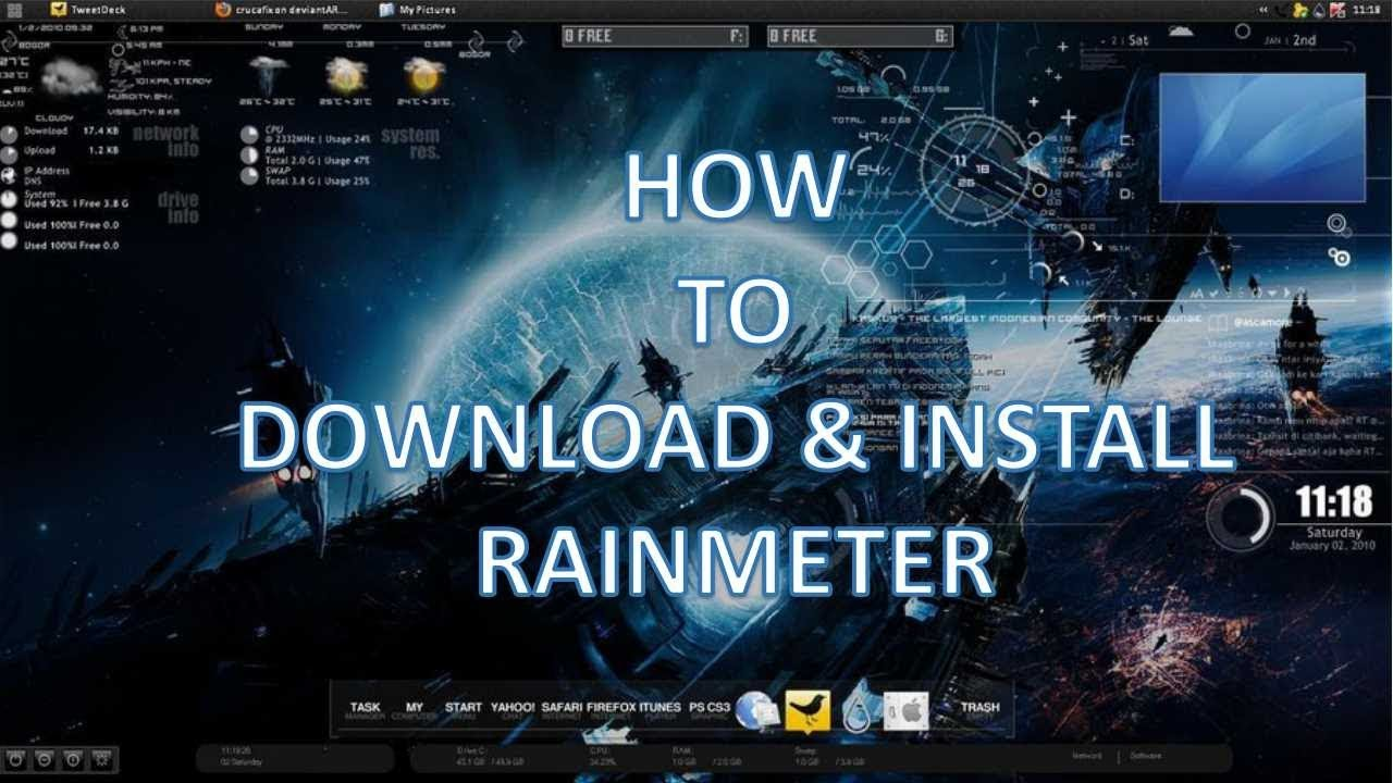 How to download and install Rainmeter on windows 7/8/10/Vista for 32/64  Bits Versions?