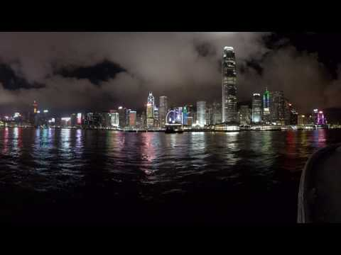 Hong Kong night timelapse in 360 video from Star Ferry