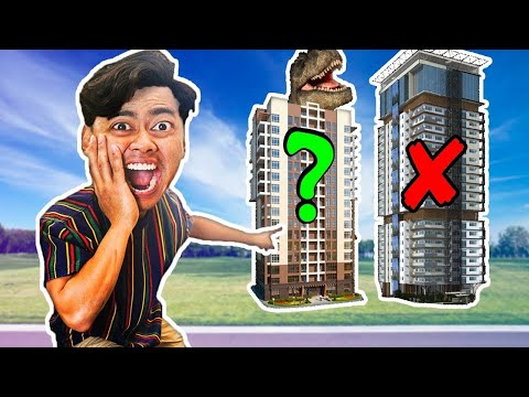 DONT Hide Inside The Wrong Mystery Building (MYSTERY Dinosaur)