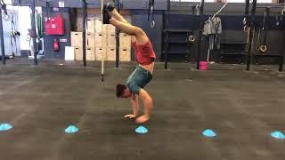 5m pirouette handstand walk