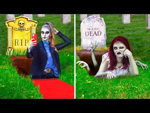 Бедная зомби против богатой!