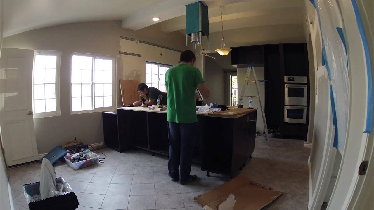 Kitchen Remodeling - Day 11 of 17 - Trim Work, Counter ...