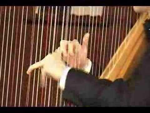 Josh Layne performs Grandjany's cadenza-Handel Harp Concerto