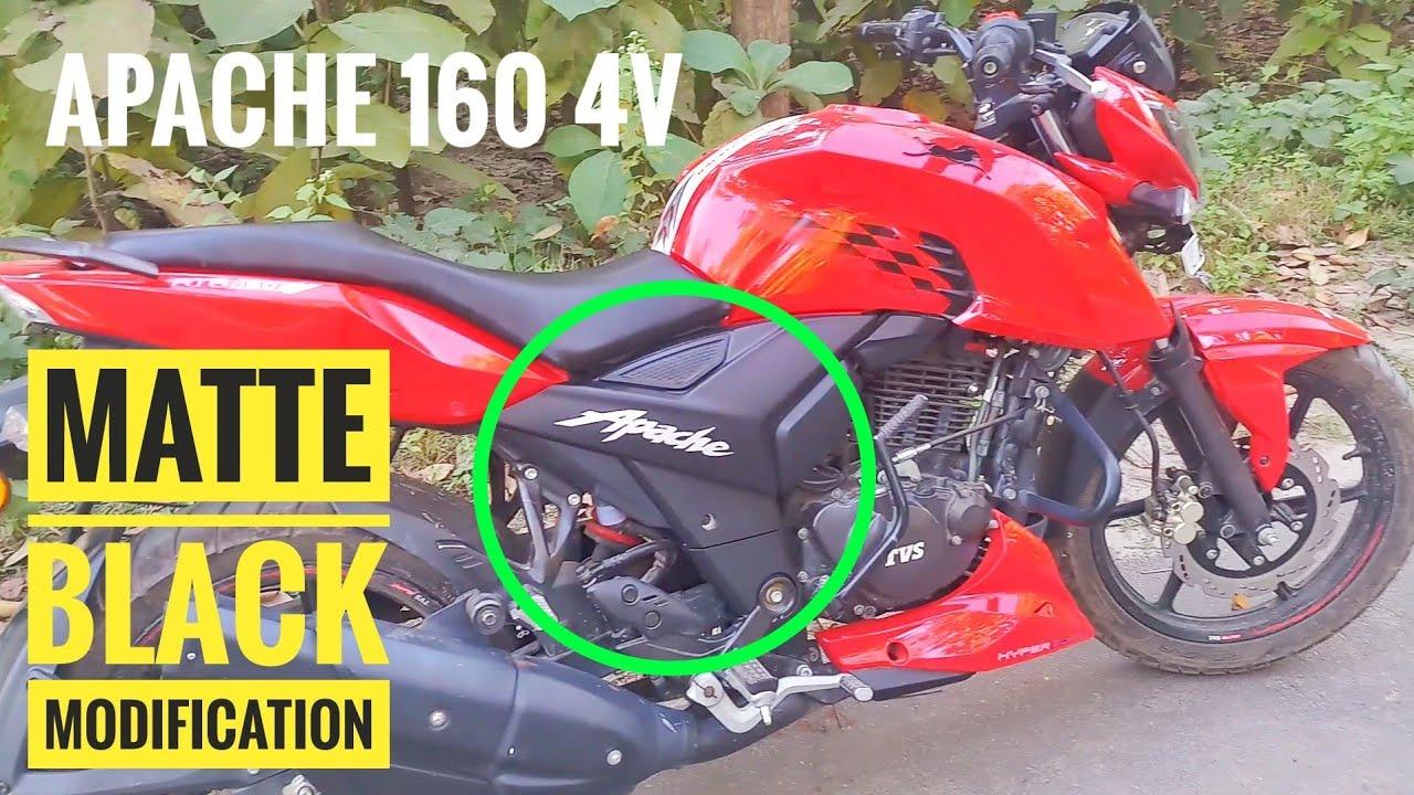 Tvs Apache 160 4V modification matt black wrapping | RZA Vlogs