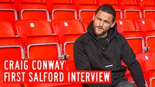 Former blackburn rovers winger craig conway joined the club before away win over walsall at weekend.watch his first interview as a salford city playe...