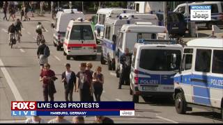 FOX 5 LIVE (7/6): Riots at G20 in Germany; California car chase