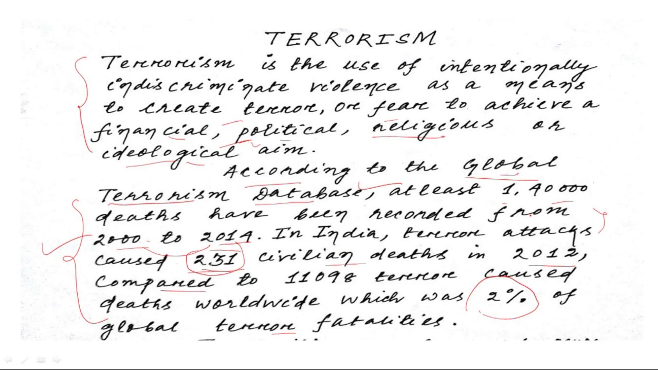 SSC MTS ESSAY ON TERRORISM SSC/IB/BANKING BY Letu0027s Talk English IN HINDI