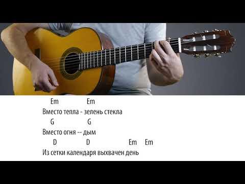 Виктор Цой - Перемен аккорды на гитаре