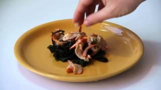 Китайский салат с кальмарами