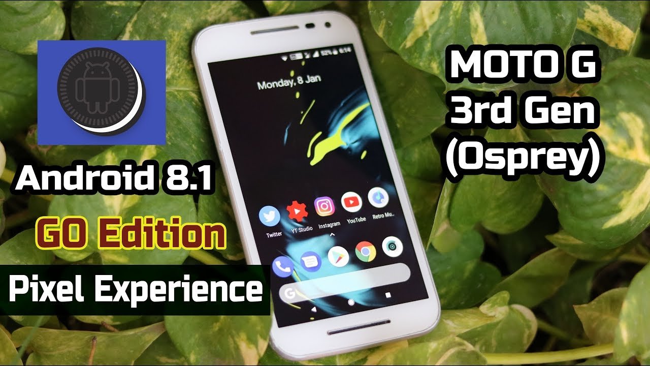 Moto G3 - Android (8 1) Pixel Experience Go edition ROM | Review | Android  Go?