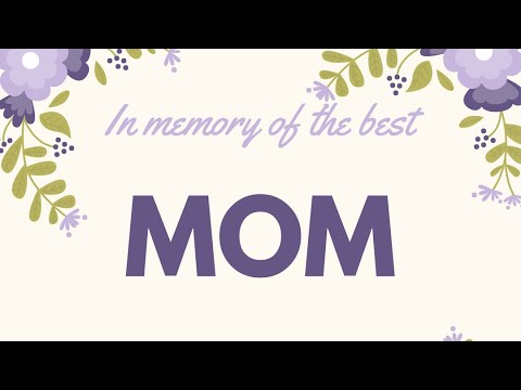 in memory of my mother