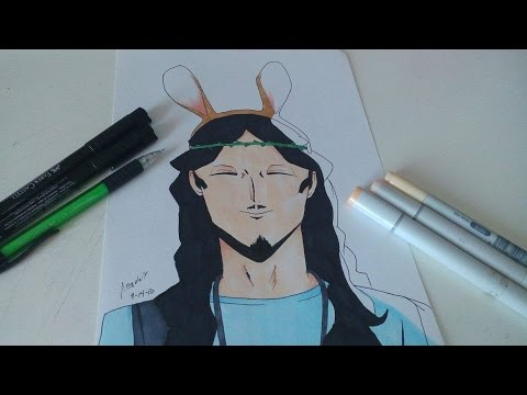 Speed Drawing | Jesus Christ | Saint Young Men
