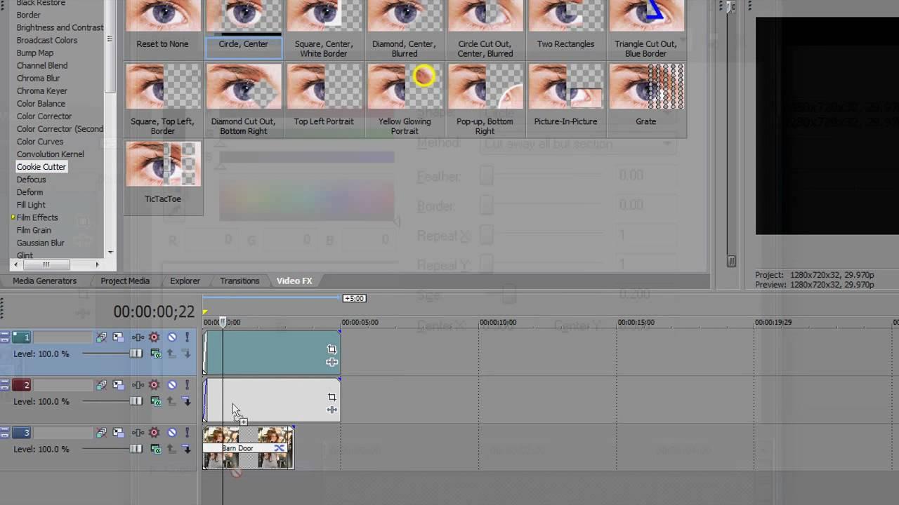 Sony Vegas Tutorial | Barn Door Circle Effect #5 - YouTube