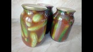 Маринованные огурцы с кетчупом Чили - пикантный вкус