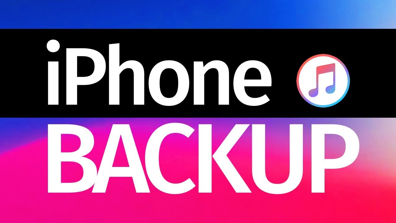 how to take backup of iphone using itunes