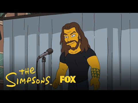 Kathy With a K - Jason Momoa is Living the Dream Starring in The Simpsons (VIDEO)
