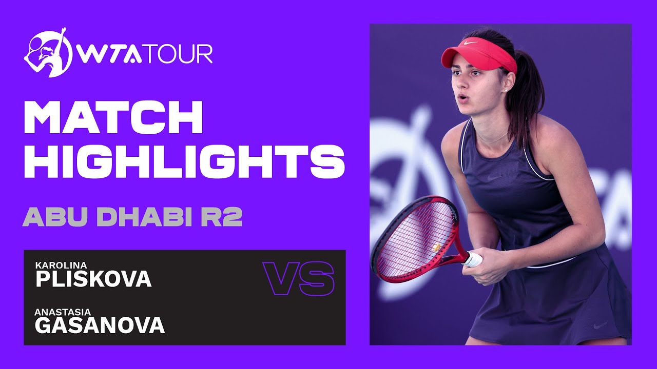 Anastasia Gasanova vs. Karolina Pliskova | 2021 Abu Dhabi Second Round | WTA Highlights