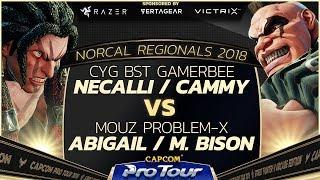 CYG BST | GamerBee (Necalli) vs. MOUZ | Problem-X (Abigail) - Top 16 - NCR 2018 - SFV - CPT 2018