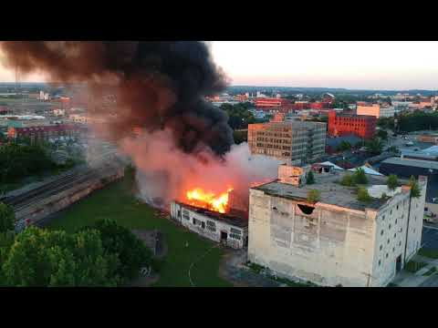 Second Drone footage of fire at 101 Bainbridge Dayton