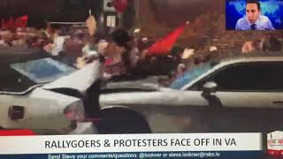 CAR CRASHES INTO PROTESTERS IN CHARLOTTESVILLE VIRGINIA AT UNITE THE RIGHT