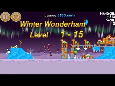 Angry Birds Seasons Winter wonderham 1-15 Walkthrough 3 stars Sterne Full HD